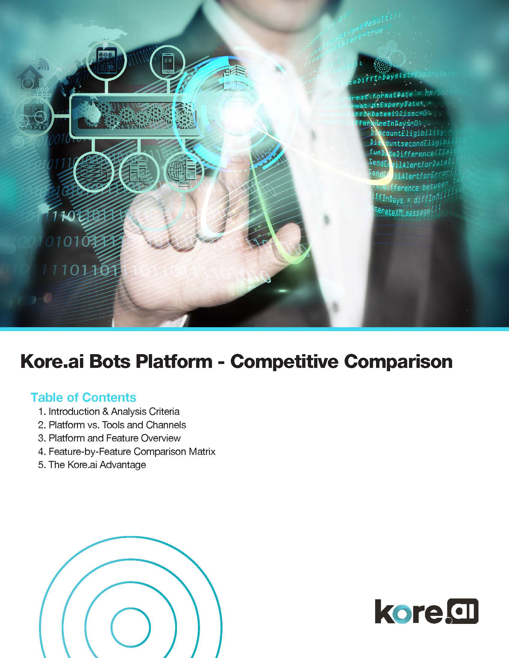 Kore.ai Bots Platform Competitive Comparison